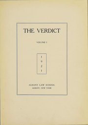 Page 3, 1921 Edition, Albany Law School - Verdict Yearbook (Albany, NY) online yearbook collection