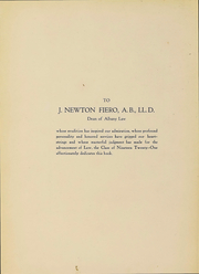 Page 4, 1921 Edition, Albany Law School - Verdict Yearbook (Albany, NY) online yearbook collection