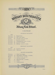 Page 6, 1921 Edition, Albany Law School - Verdict Yearbook (Albany, NY) online yearbook collection