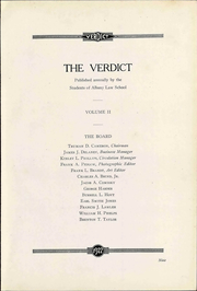 Page 13, 1922 Edition, Albany Law School - Verdict Yearbook (Albany, NY) online yearbook collection
