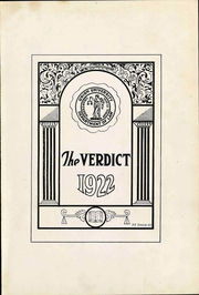 Page 7, 1922 Edition, Albany Law School - Verdict Yearbook (Albany, NY) online yearbook collection