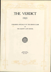 Page 9, 1923 Edition, Albany Law School - Verdict Yearbook (Albany, NY) online yearbook collection