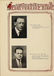 Page 16, 1931 Edition, Albany Law School - Verdict Yearbook (Albany, NY) online yearbook collection