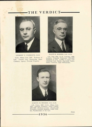 Page 11, 1936 Edition, Albany Law School - Verdict Yearbook (Albany, NY) online yearbook collection