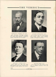 Page 12, 1936 Edition, Albany Law School - Verdict Yearbook (Albany, NY) online yearbook collection