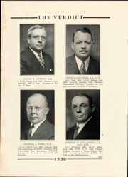 Page 13, 1936 Edition, Albany Law School - Verdict Yearbook (Albany, NY) online yearbook collection