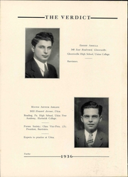 Page 16, 1936 Edition, Albany Law School - Verdict Yearbook (Albany, NY) online yearbook collection