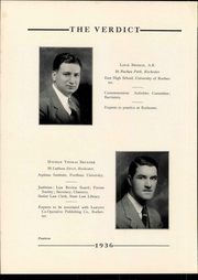 Page 18, 1936 Edition, Albany Law School - Verdict Yearbook (Albany, NY) online yearbook collection