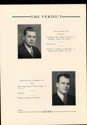 Page 20, 1936 Edition, Albany Law School - Verdict Yearbook (Albany, NY) online yearbook collection