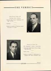 Page 21, 1936 Edition, Albany Law School - Verdict Yearbook (Albany, NY) online yearbook collection