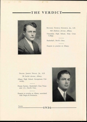 Page 24, 1936 Edition, Albany Law School - Verdict Yearbook (Albany, NY) online yearbook collection