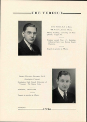 Page 26, 1936 Edition, Albany Law School - Verdict Yearbook (Albany, NY) online yearbook collection