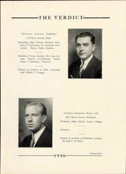 Page 27, 1936 Edition, Albany Law School - Verdict Yearbook (Albany, NY) online yearbook collection