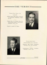 Page 29, 1936 Edition, Albany Law School - Verdict Yearbook (Albany, NY) online yearbook collection