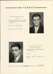 Page 31, 1936 Edition, Albany Law School - Verdict Yearbook (Albany, NY) online yearbook collection