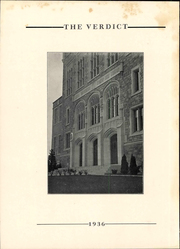 Page 6, 1936 Edition, Albany Law School - Verdict Yearbook (Albany, NY) online yearbook collection