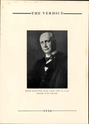 Page 8, 1936 Edition, Albany Law School - Verdict Yearbook (Albany, NY) online yearbook collection