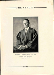 Page 9, 1936 Edition, Albany Law School - Verdict Yearbook (Albany, NY) online yearbook collection