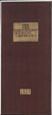 Albany Law School - Verdict Yearbook (Albany, NY) online yearbook collection, 1937 Edition, Page 1