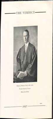Page 13, 1937 Edition, Albany Law School - Verdict Yearbook (Albany, NY) online yearbook collection