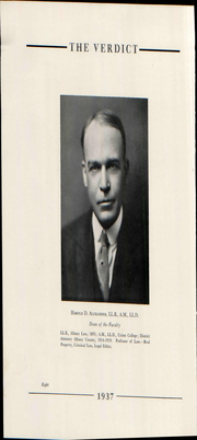 Page 14, 1937 Edition, Albany Law School - Verdict Yearbook (Albany, NY) online yearbook collection
