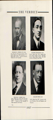 Page 16, 1937 Edition, Albany Law School - Verdict Yearbook (Albany, NY) online yearbook collection