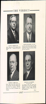 Page 17, 1937 Edition, Albany Law School - Verdict Yearbook (Albany, NY) online yearbook collection
