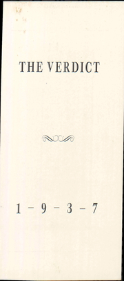 Page 9, 1937 Edition, Albany Law School - Verdict Yearbook (Albany, NY) online yearbook collection