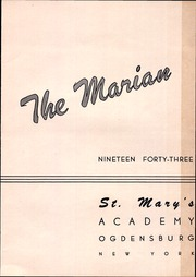 Page 5, 1943 Edition, St Marys Academy - Marian Yearbook (Ogdensburg, NY) online yearbook collection