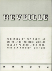 Page 7, 1941 Edition, Peekskill Military Academy - Reveille Yearbook (Peekskill, NY) online yearbook collection