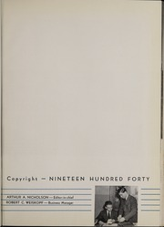 Page 9, 1940 Edition, Eastman School of Music - Score Yearbook (Rochester, NY) online yearbook collection