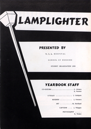 Page 4, 1959 Edition, WCA Hospital School of Nursing - Lamplighter Yearbook (Jamestown, NY) online yearbook collection