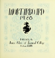Page 11, 1928 Edition, Barnard College - Mortarboard Yearbook (New York, NY) online yearbook collection