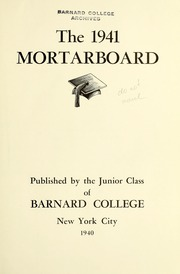 Page 9, 1941 Edition, Barnard College - Mortarboard Yearbook (New York, NY) online yearbook collection
