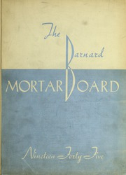 Page 1, 1945 Edition, Barnard College - Mortarboard Yearbook (New York, NY) online yearbook collection