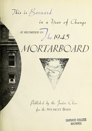 Page 7, 1945 Edition, Barnard College - Mortarboard Yearbook (New York, NY) online yearbook collection