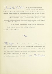 Page 9, 1945 Edition, Barnard College - Mortarboard Yearbook (New York, NY) online yearbook collection