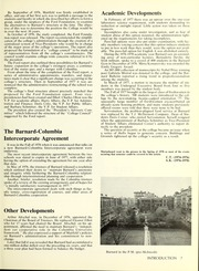 Page 11, 1978 Edition, Barnard College - Mortarboard Yearbook (New York, NY) online yearbook collection