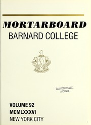 Page 5, 1986 Edition, Barnard College - Mortarboard Yearbook (New York, NY) online yearbook collection