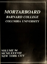 Page 5, 1988 Edition, Barnard College - Mortarboard Yearbook (New York, NY) online yearbook collection
