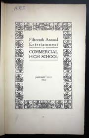Page 17, 1912 Edition, Commercial High School of Brooklyn - Annual Yearbook (Brooklyn, NY) online yearbook collection