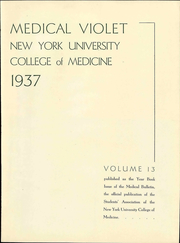 Page 9, 1937 Edition, New York University School of Medicine - Medical Yearbook (New York, NY) online yearbook collection