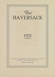 Page 3, 1921 Edition, Manlius School - Haversack Yearbook (Manlius, NY) online yearbook collection