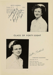 Page 12, 1948 Edition, Wyoming County Hospital School of Nursing - Caduceus Yearbook (Warsaw, NY) online yearbook collection