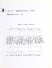 Page 7, 1988 Edition, John Jay College of Criminal Justice - Justitia Yearbook (New York, NY) online yearbook collection