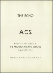 Page 5, 1952 Edition, Angelica Central School - Echo Yearbook (Angelica, NY) online yearbook collection