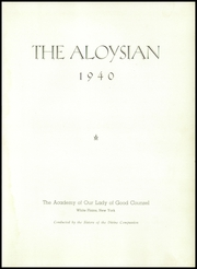 Page 7, 1940 Edition, Academy of Our Lady of Good Counsel - Aloysian Yearbook (Aloysian, NY) online yearbook collection