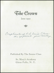 Page 3, 1951 Edition, St Marys Academy - Crown Yearbook (Glens Falls, NY) online yearbook collection
