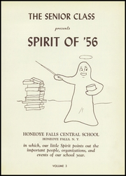 Page 5, 1956 Edition, Honeoye Falls Central High School - Hornet Yearbook (Honeoye Falls, NY) online yearbook collection