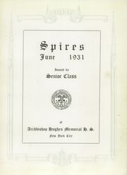 Page 7, 1931 Edition, Archbishop Hughes Memorial High School - Spires Yearbook (New York, NY) online yearbook collection